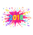 happy new year card confetti burst vector image