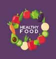 healthy food fresh vector image