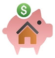Home Savings Piggy Bank Gradient Icon vector image