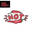 hot chili pepper flat vector image vector image