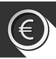 icon - euro currency symbol with shadow vector image