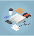 isometric morning newspaper vector image