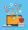 laptop with education online service vector image