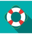 Lifebuoy icon in flat style vector image