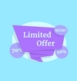 limited offer color label like wow sale vector image