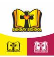 logo sunday school and christian symbols vector image vector image