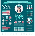 medical infographic set Charts icons vector image vector image