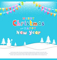 merry christmas banner poster template with vector image vector image