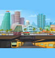 miami downtown metro rail poster vector image vector image