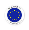 modern made in europe label european sticker vector image