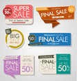 modern sale banners and labels collection 04 vector image vector image
