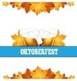 oktoberfest greeting card poster with mug beer vector image