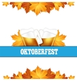 Oktoberfest greeting card Poster with mug of beer vector image vector image