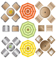 Outdoor Furniture top view set 1 for Landscape vector image vector image