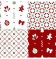patterns with set decorations vector image vector image