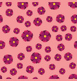 pink purple and lilac flowers seamless pattern vector image