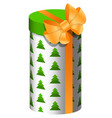 present for year gift in box vector image vector image