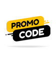 promo code coupon code flat set design on white vector image vector image