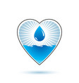 pure water abstract logo for use as marketing vector image vector image