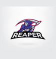 Reaper mascot character logo
