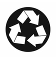 Recycle sign icon simple style vector image vector image
