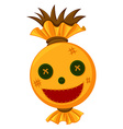 Scarecrow head with happy face vector image vector image