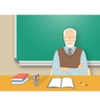 school teacher man at desk flat education vector image vector image
