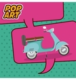 scooter pop art design vector image vector image