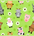 seamless background card with animals vector image vector image