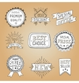 set hand drawn style badges and elements vector image vector image