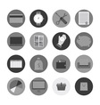 set of business icons vector image