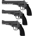 set of pistols vector image