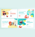 set of web page design templates for food vector image