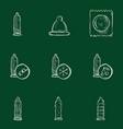 set sketch condom icons vector image vector image