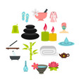 spa treatments set flat icons vector image vector image