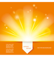 Sun Beams with Orange Yellow Blurred vector image vector image