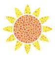 sun mosaic of filled circles vector image vector image