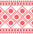 Ukrainian Eastern European folk art pattern vector image vector image