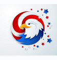 united states eagle head abstract template vector image vector image