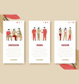 vertical banners set - modern cartoon flat people vector image vector image