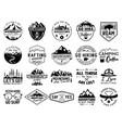 vintage camp logo bundle mountain badges set vector image vector image