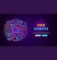 web ui neon banner design vector image vector image