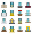 window forms icons set in flat style vector image vector image
