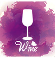 wine cup silhouette vector image vector image