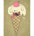 crazy ice cream vector image