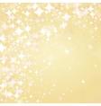 light stars on golden background vector image