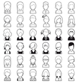 Line people icon vector image