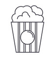 popcorn line icon sign on vector image