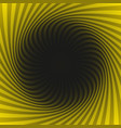abstract hypnotic swirl background vector image vector image