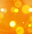 Abstract Shapes Swirl and Lights Orange Background vector image